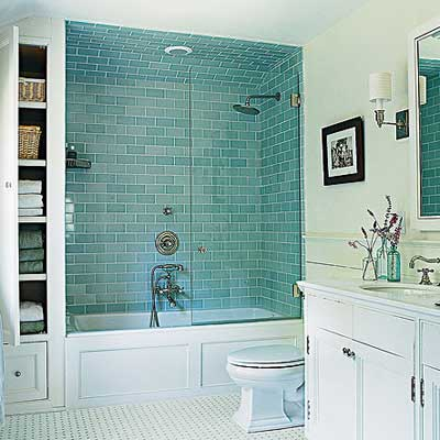Vintage vibe small wonder this old house for Old tile bathroom renovation