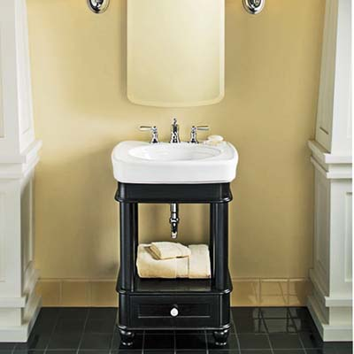 the Bancroft vanity from Kohler is roomier than it looks
