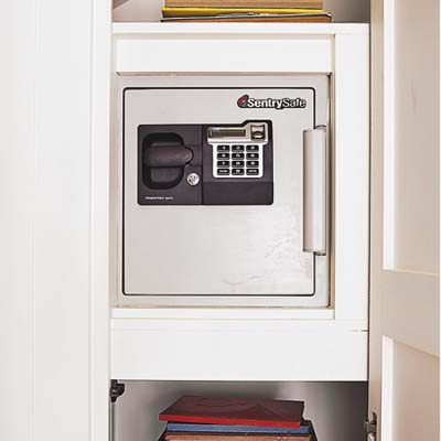 closet in the pantry conceals the safe