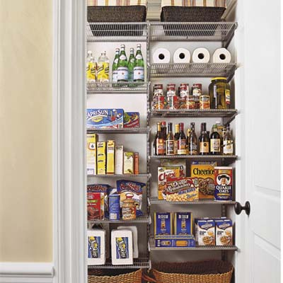 pantry with storage