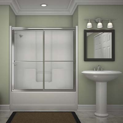 shower door design from Lasco Bath
