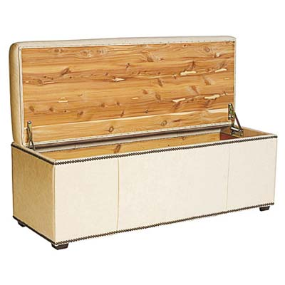 bench, ottoman, and cedar-lined chest all in one