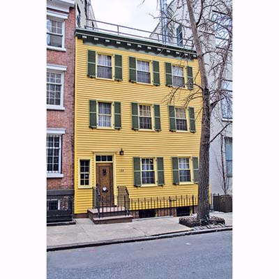 Federal-style rowhouse exterior renovation