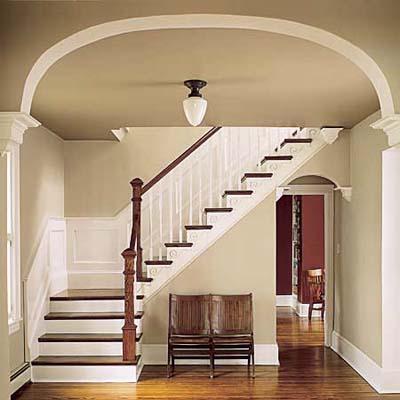 restored original staircase in Queen Anne