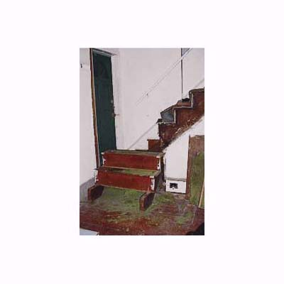 the original bottom steps of 1895 Queen Anne