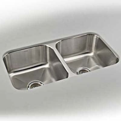 Affordable double-bay stainless-steel sink from Kohler