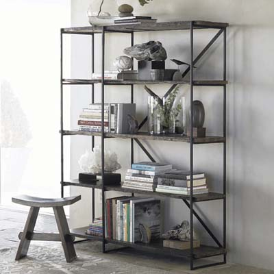 railroad tie green bookshelf