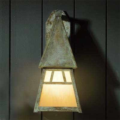 Antique finish sconce by arroyo craftsman
