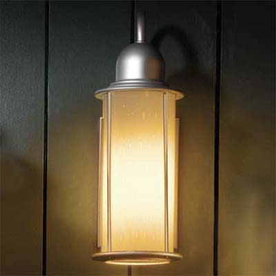 silver lantern sconce by forecast lighting