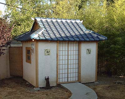 A new teahouse replaces the shed