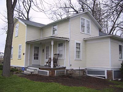 The farmhouse before exterior renovation