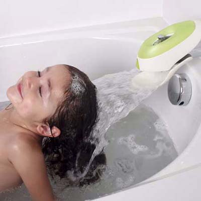 Flo from Boon water diverting faucet attachment with protective cover