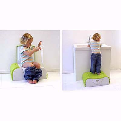 Potty bench from Boon for potty training and use as a stool