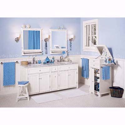 Pottery barn PBteen line of bath cabinets