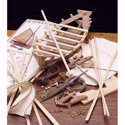 a model-Jolly Boat project for young woodworkers