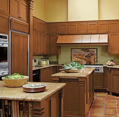 Redesigned Arts and Crafts style kitchen for cooking and entertaining