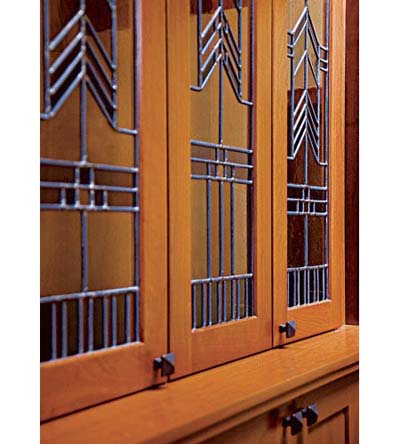 hutch with leaded glass doors from Cosby Art Glass
