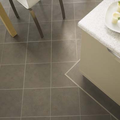 metallic finish brinze vinyl tiles by amtico