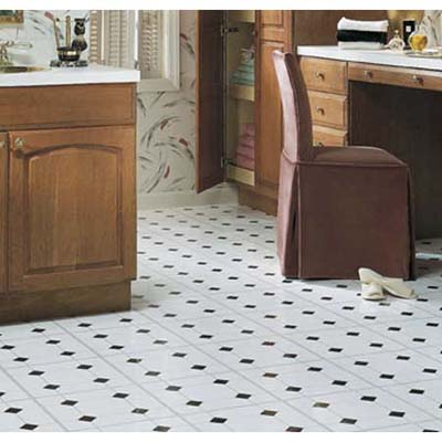 black and white square pattern vinyl tiles