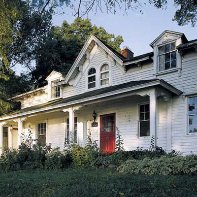 clapboard house moved to another part of grosse ile and renovated