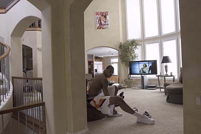 NBA star Carmelo Anthony's living room windows