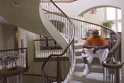 NBA star Carmelo Anthony's spiral staircase