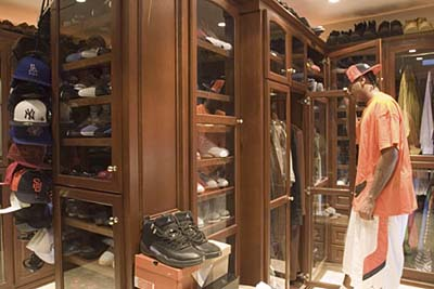 NBA star Carmelo Anthony's walk-in closet