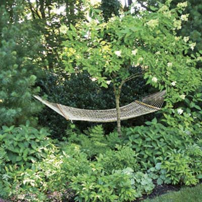 hammock hideaway in outdoor room