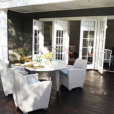 outdoor room and furniture