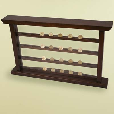 coin collection, display, notched tiers