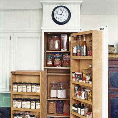 pantry that was kept in kitchen remodel