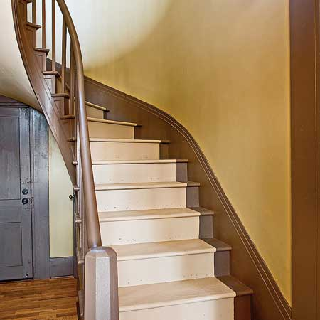 Italianate staircase after remodel