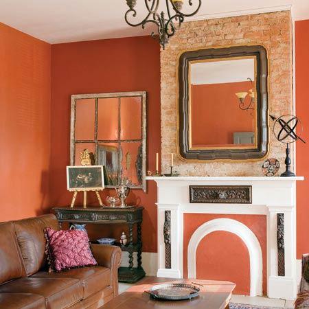 italianate living room with mantel