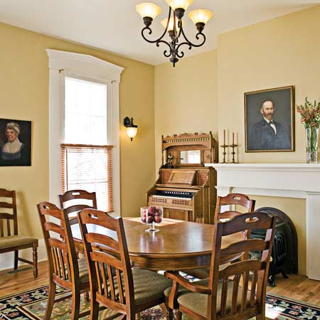 Italianate dining room after renovation