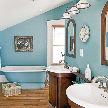 Italianate master bathroom after renovation