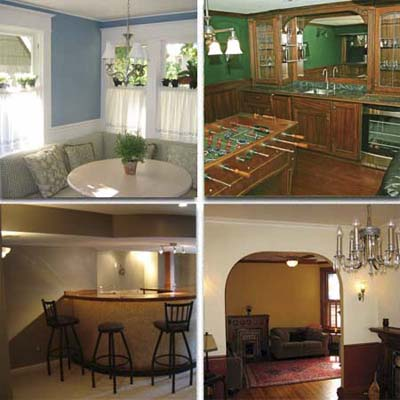 four remodeled family rooms
