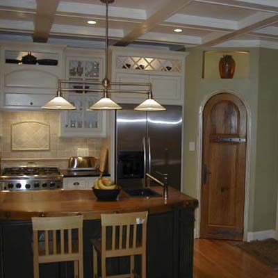 Kitchen crafted by hand after