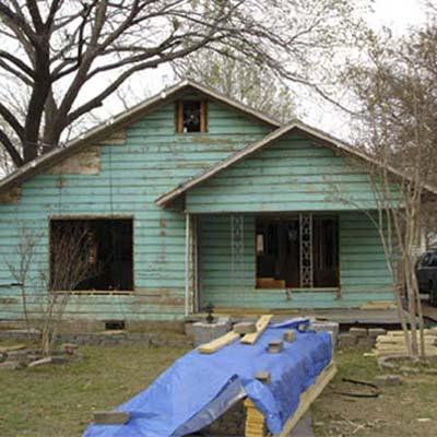 pre-war bungalow before remodel