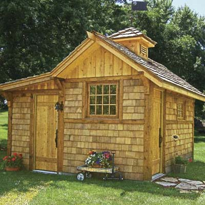 new shed built of cedar