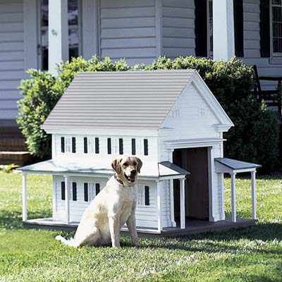 greek revival doghouse