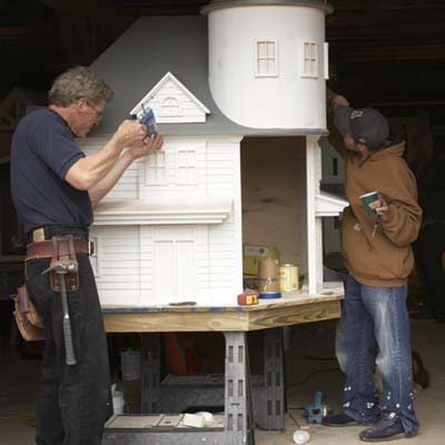 assembling queen anne style doghouse