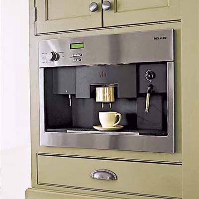 built in coffee maker