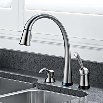 Sensor-activated faucet, kitchen products