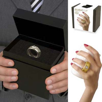 2 Carat Cup mimics wedding ring