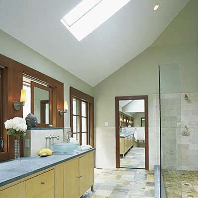incorporate natural lighting with skylights