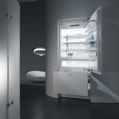 Refrigerator with a built-in service center from Miele
