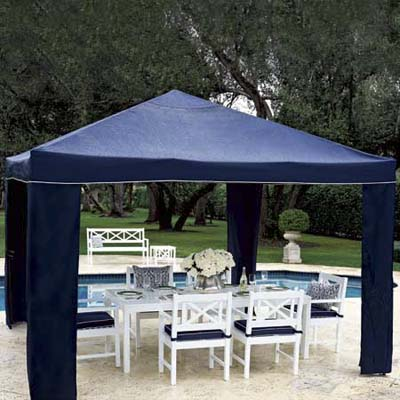 quick to assemble and fully collapsible canopy from lands' end