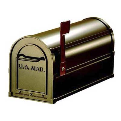 salsbury mailbox mixes antique and modern styles