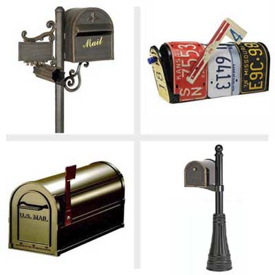 post-mount mailboxes in a range of size and styles