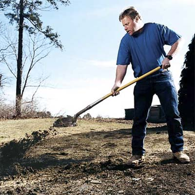 do bend at the knees with your back straight using your legs upward thrust to propel the shovel's contents